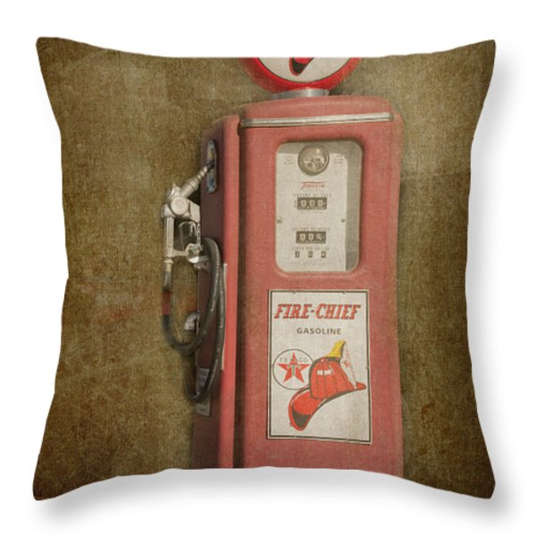 Texaco Fire Chief Throw Pillow by Bob and Nancy Kendrick