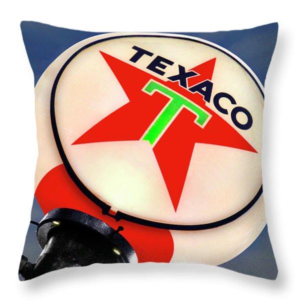 Texaco Star Globe Throw Pillow by Mike McGlothlen