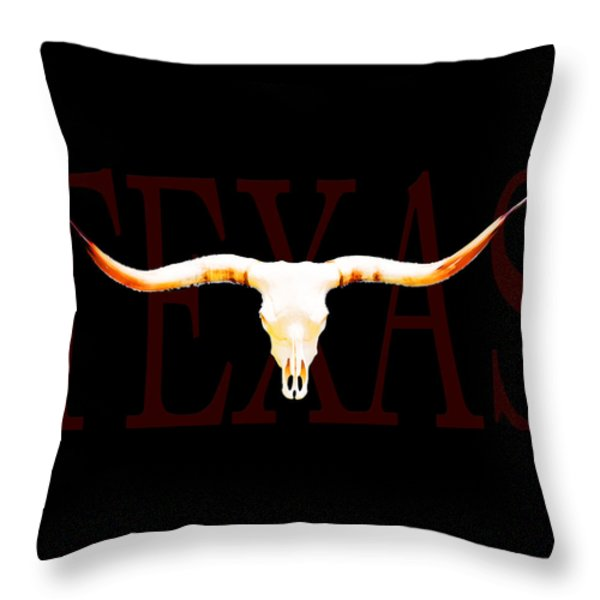 Texas Longhorns By Sharon Cummings Throw Pillow by Sharon Cummings