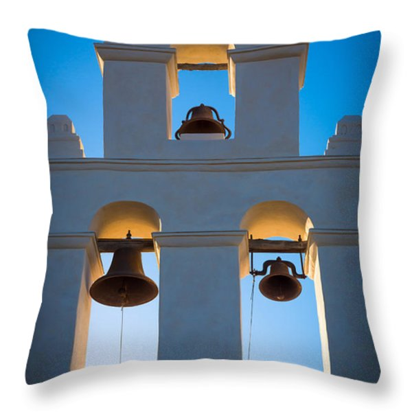 Texas Mission Throw Pillow by Inge Johnsson