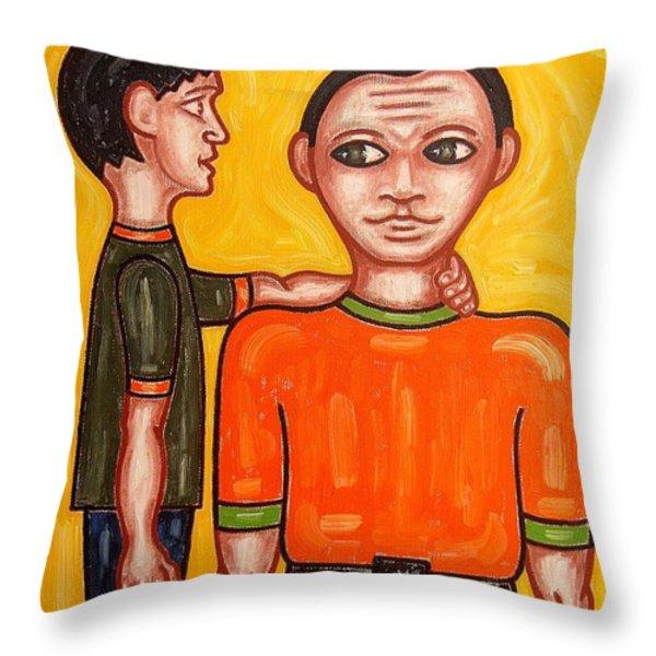 THANKS DAD Throw Pillow by Patrick J Murphy