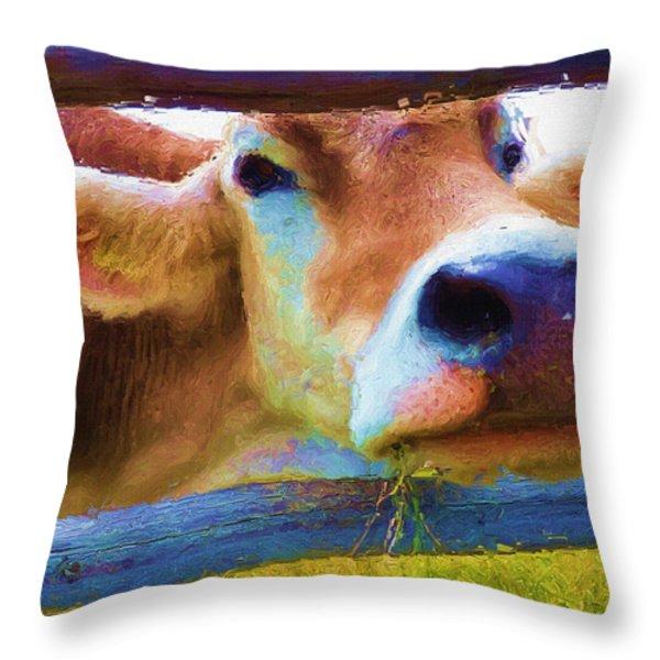 That's My Lunch Throw Pillow by Ayse Deniz