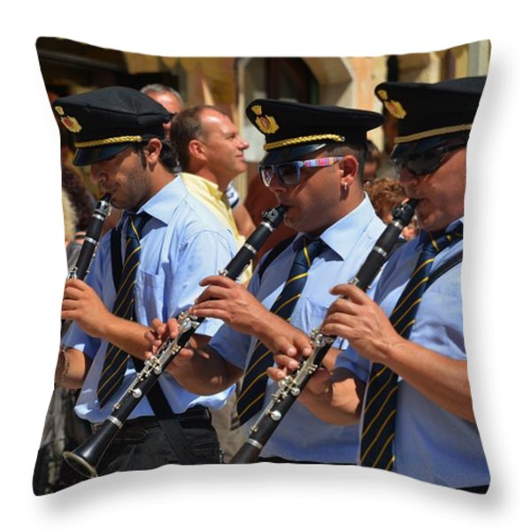 The 3 musicians Throw Pillow by Dany  Lison