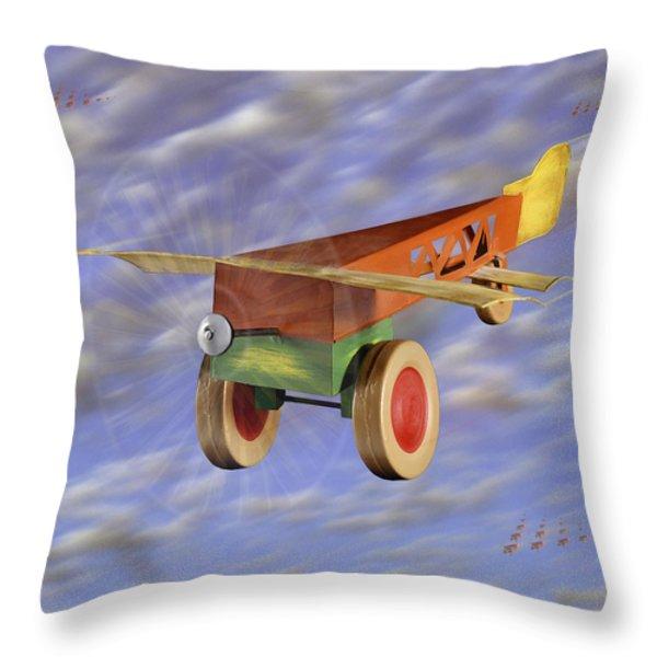 The 356th Toy Plane Squadron 2 Throw Pillow by Mike McGlothlen