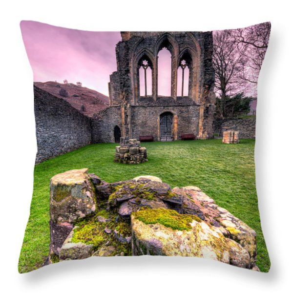 The Abbey Throw Pillow by Adrian Evans