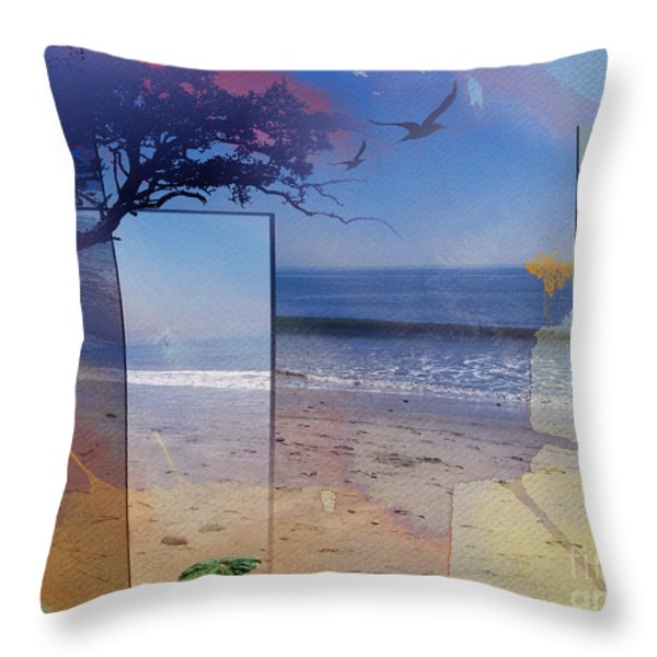 The Abstract Beach Throw Pillow by Bedros Awak