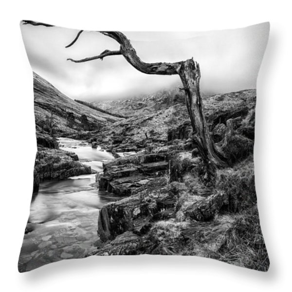 The accusing finger Throw Pillow by John Farnan