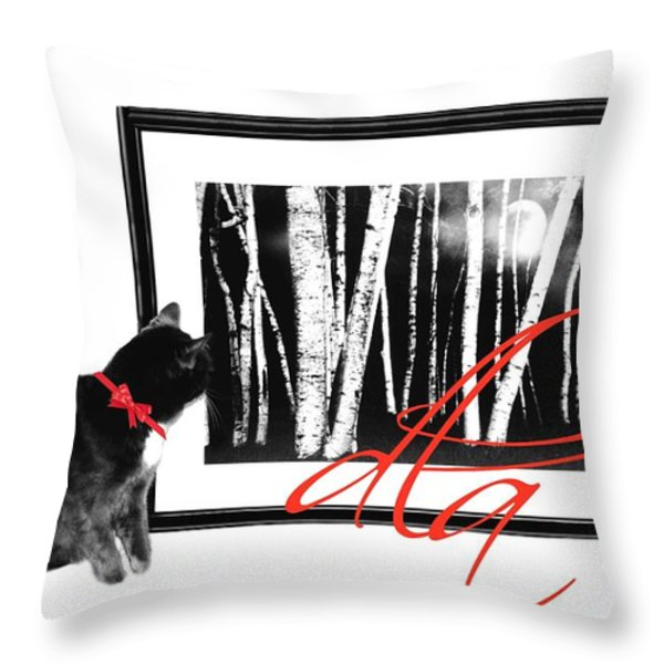 The Capture Throw Pillow by Diana Angstadt