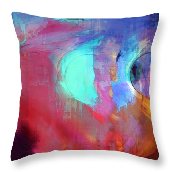 The Afterglow Throw Pillow by Linda Sannuti