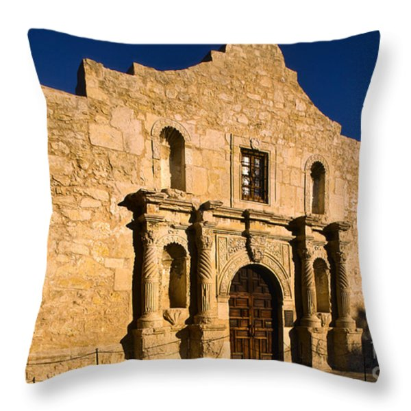 The Alamo Throw Pillow by Inge Johnsson
