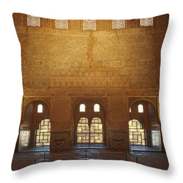 The Alhambra King room Throw Pillow by Guido Montanes Castillo