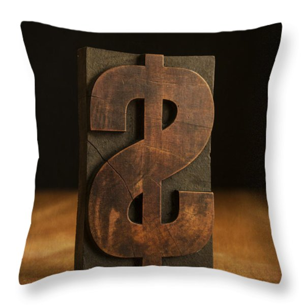 The Almighty Dollar Throw Pillow by Edward Fielding