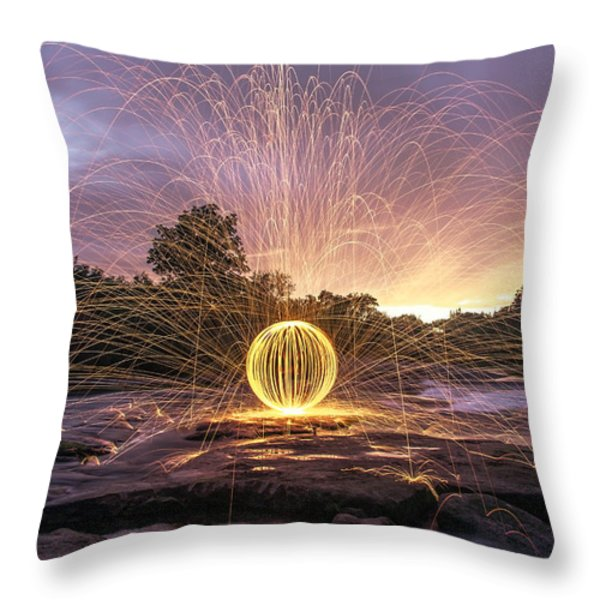 The American River Orb Throw Pillow by Lee Harland