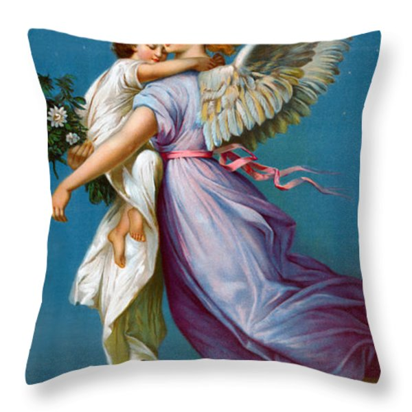 The Angel Of Peace Throw Pillow by B T Babbitt