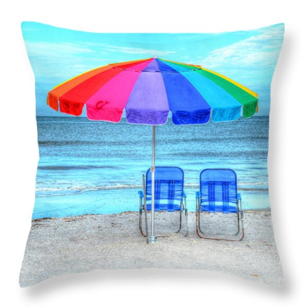 The Answer To Prozac Throw Pillow by Debbi Granruth