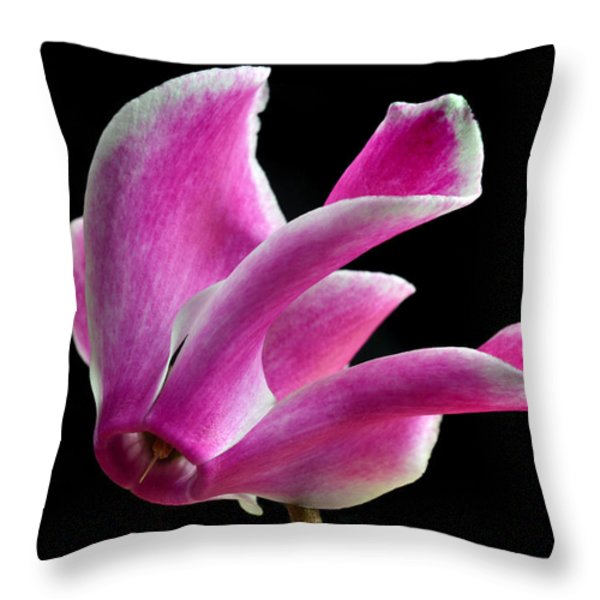 The Art Of Cyclamen Throw Pillow by Terence Davis