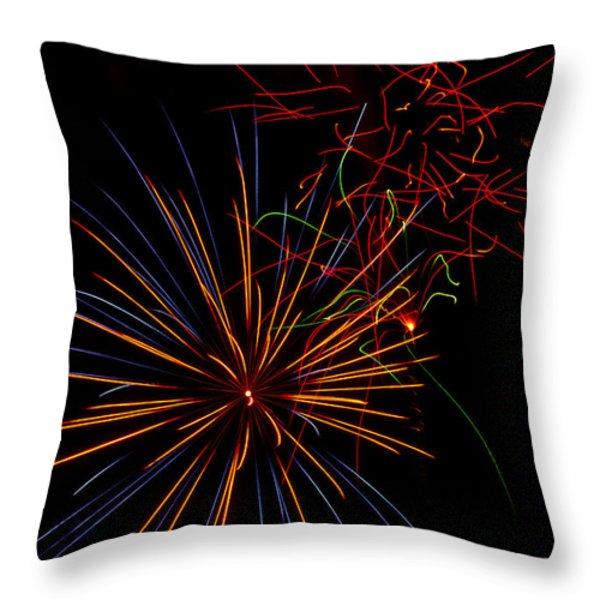 The Art of Fireworks  Throw Pillow by Saija  Lehtonen
