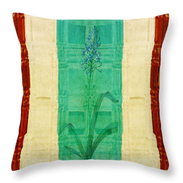 The Art Of Gardening Throw Pillow by Bonnie Bruno
