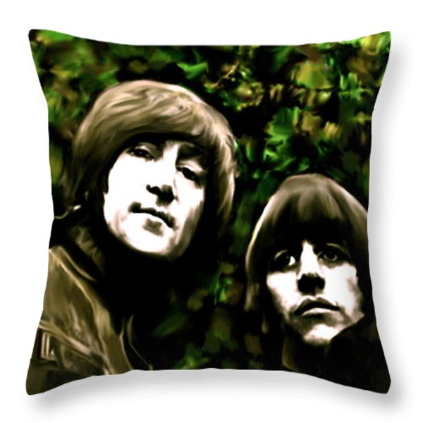 The Art Of Sound  The Beatles Throw Pillow by Iconic Images Art Gallery David Pucciarelli