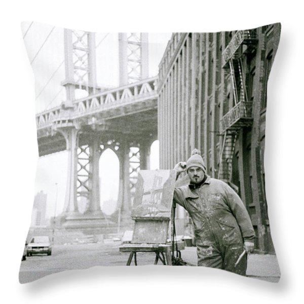 The Artist Throw Pillow by Shaun Higson