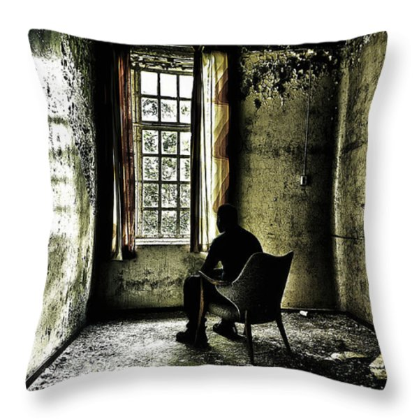 The Asylum Project - A Room with a View Throw Pillow by Erik Brede