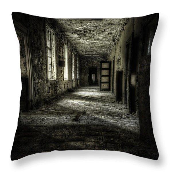 The Asylum Project - Corridor Of Terror Throw Pillow by Erik Brede