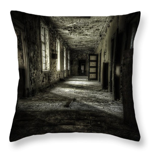 The Asylum Project - Corridor of Terror Throw Pillow by Erik Brede