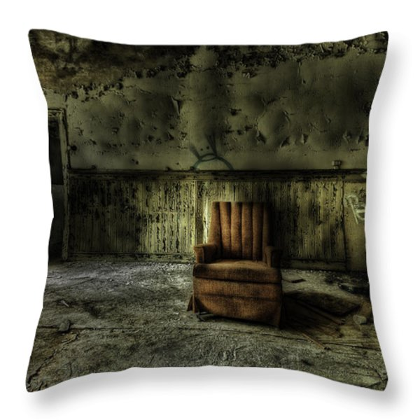 The Asylum Project - The Empty Chair Throw Pillow by Erik Brede