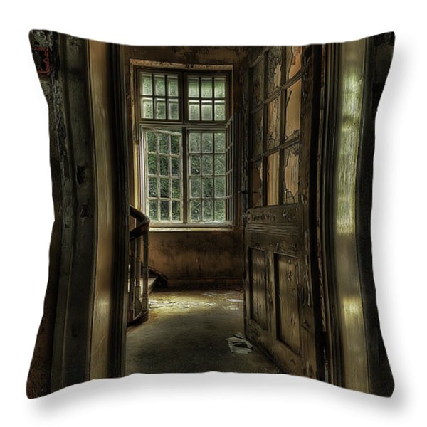The Asylum Project - Welcome Throw Pillow by Erik Brede