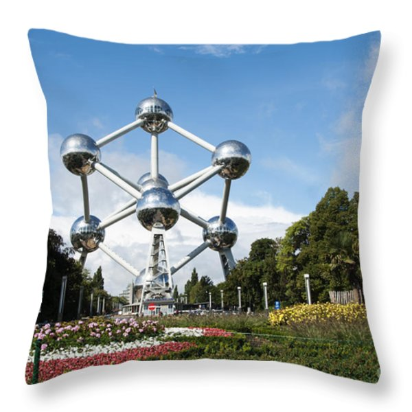 The Atomium Throw Pillow by Juli Scalzi