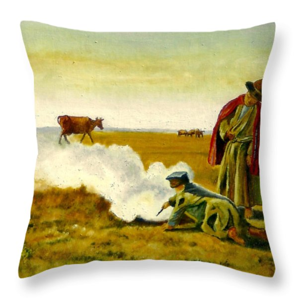 The Autumn Throw Pillow by Henryk Gorecki