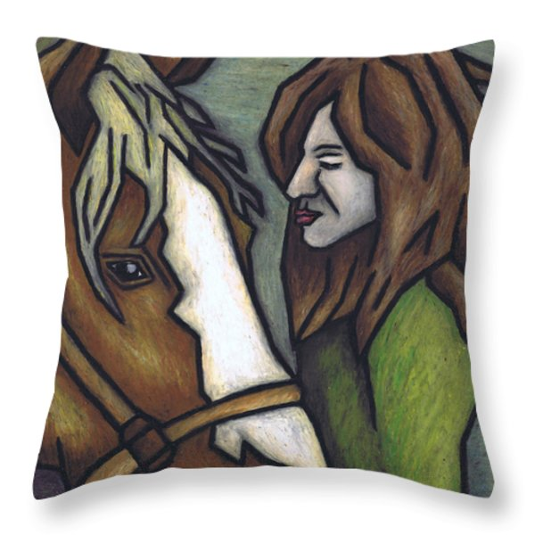 The Autumn Wind Throw Pillow by Kamil Swiatek