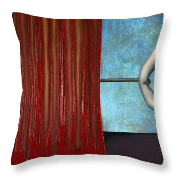 The Bad Act Throw Pillow by Kelly Jade King