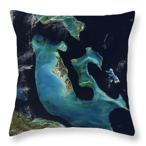 The Bahamas Throw Pillow by Adam Romanowicz