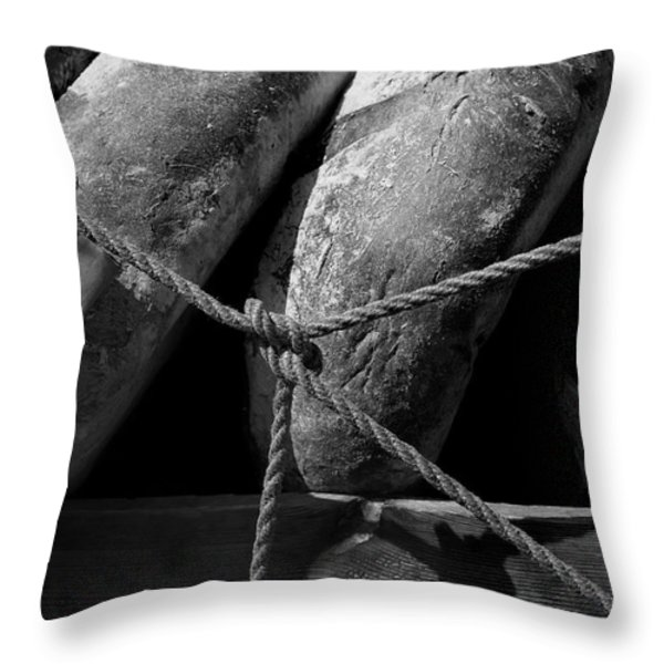 The Bakers Cart Throw Pillow by Robert Lacy