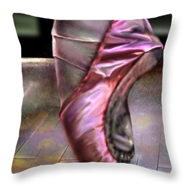 The Ballerina Throw Pillow by Reggie Duffie