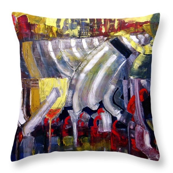 The Bar Scene Throw Pillow by James Lavott