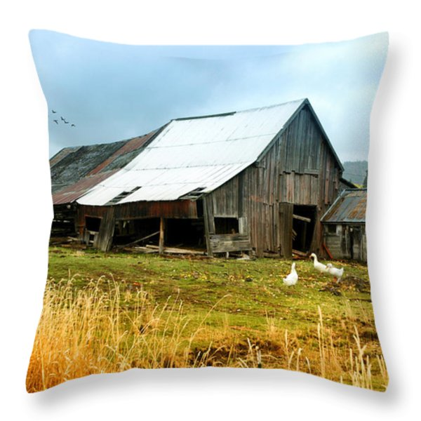 The Barnyard Bunch Throw Pillow by Mary Timman