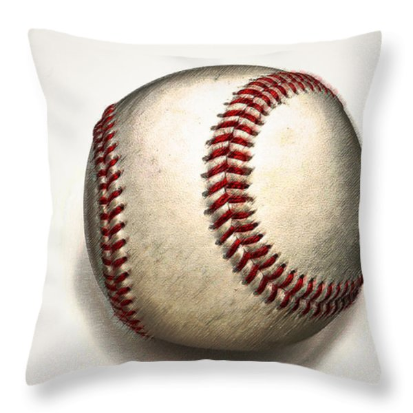 The Baseball Throw Pillow by Bill Cannon