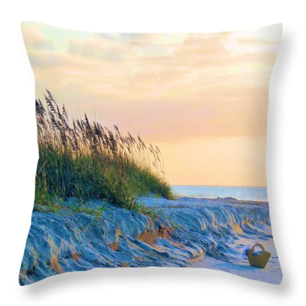 The Basket Throw Pillow by JC Findley
