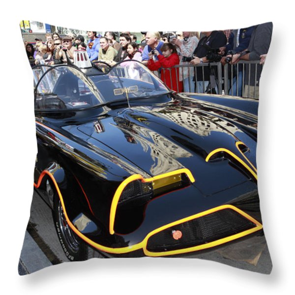 The Batmobile Throw Pillow by Nina Prommer