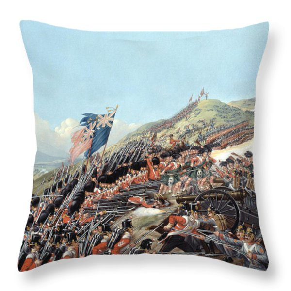 The Battle Of Alma On 20th September Throw Pillow by Edmund Walker