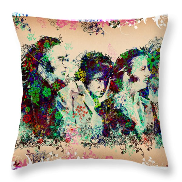 The Beatles 10 Throw Pillow by MB Art factory