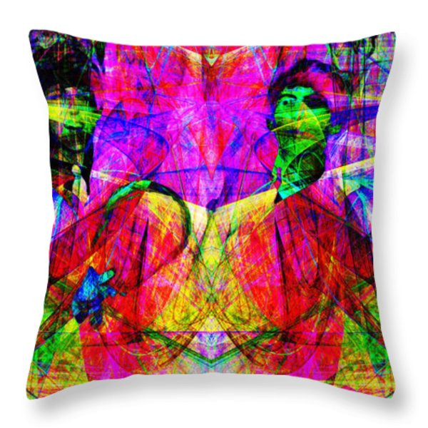 The Beatles 20130615 Throw Pillow by Wingsdomain Art and Photography