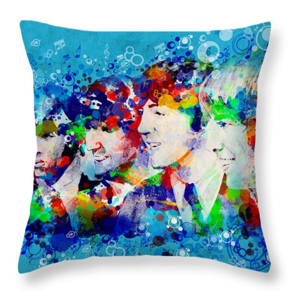 The Beatles 6 Throw Pillow by MB Art factory