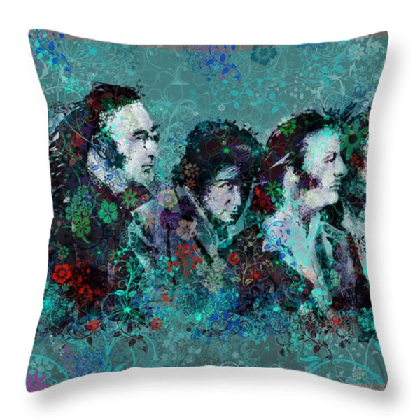 The Beatles 9 Throw Pillow by MB Art factory