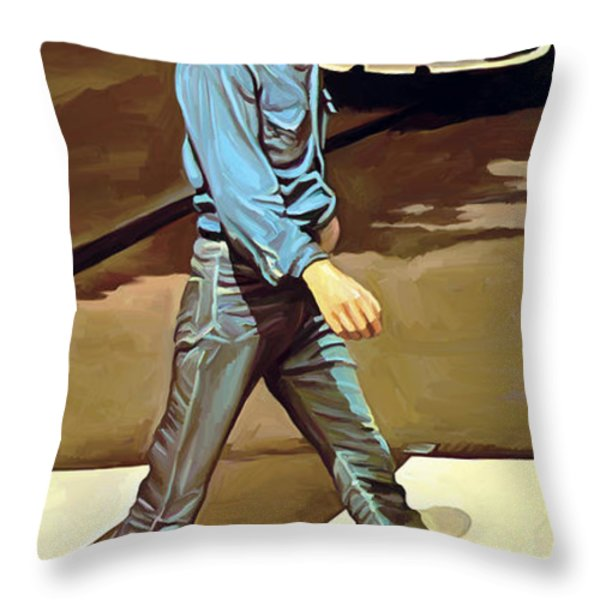 The Beatles Abbey Road Artwork Part 1 Of 4 Throw Pillow by Sheraz A