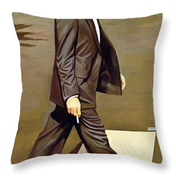 The Beatles Abbey Road Artwork Part 2 Of 4 Throw Pillow by Sheraz A