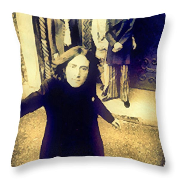 The Beatles - Camera Adjustment Throw Pillow by Paulette B Wright