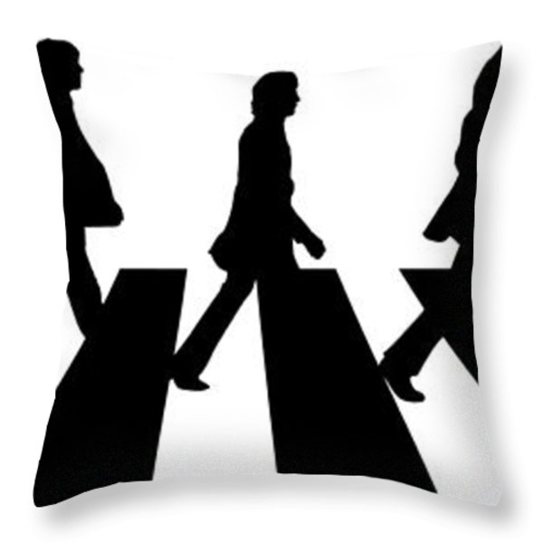 The Beatles No.02 Throw Pillow by Caio Caldas